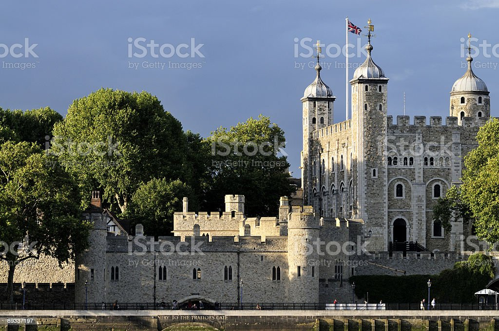 Tower of London at sundown royalty-free stock photo
