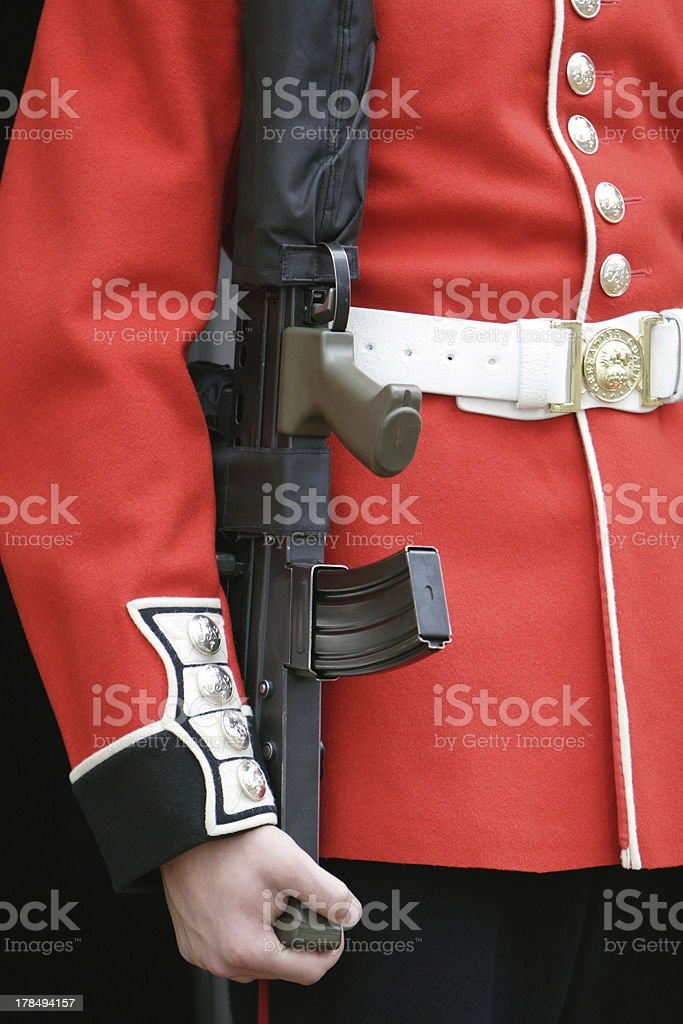 Tower of London Grenadier Guard Close royalty-free stock photo