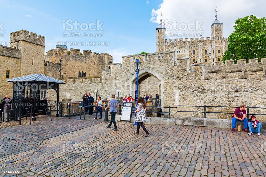 Tower of London in London, UK stock photo