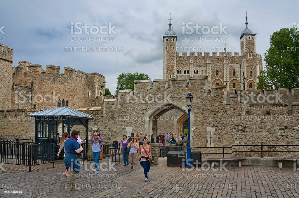 Tower of London in London, United Kingdom stock photo