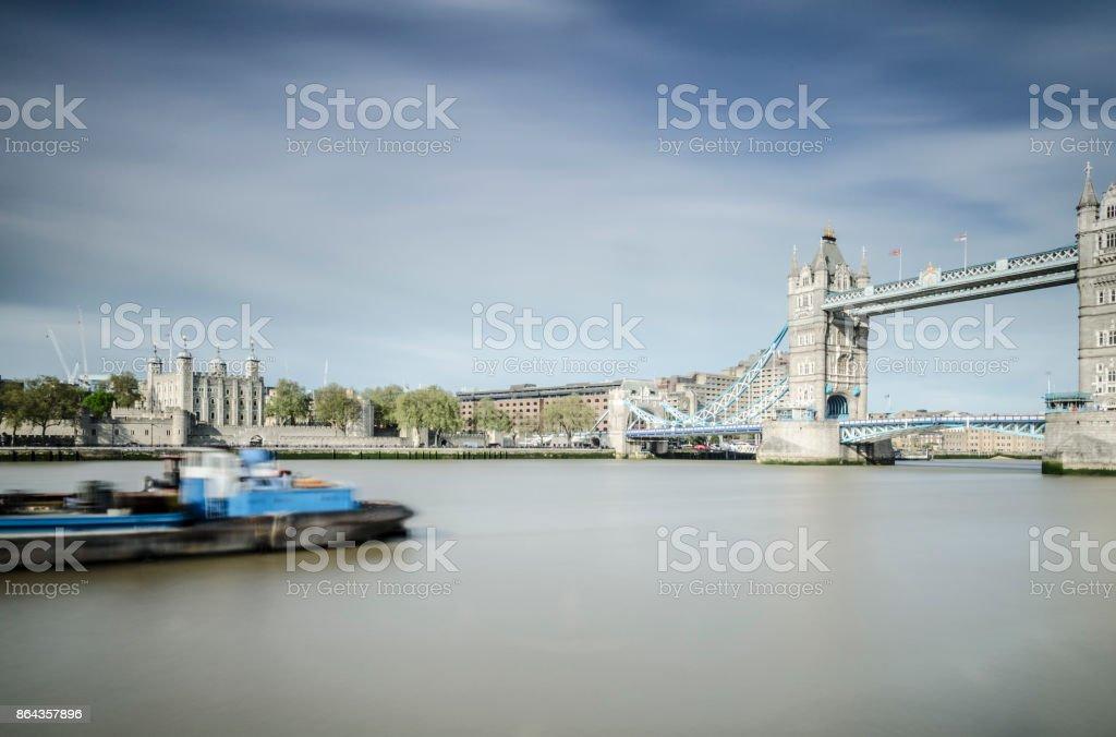 Tower of London & Tower Bridge long exposure stock photo