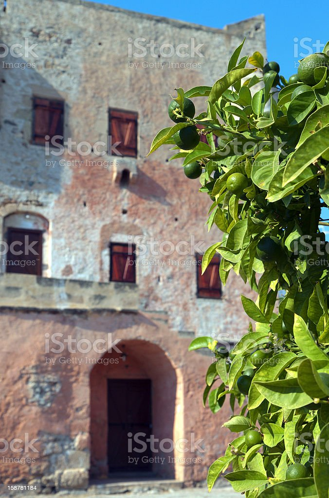 Tower of Markellos at Aegina, Greece stock photo