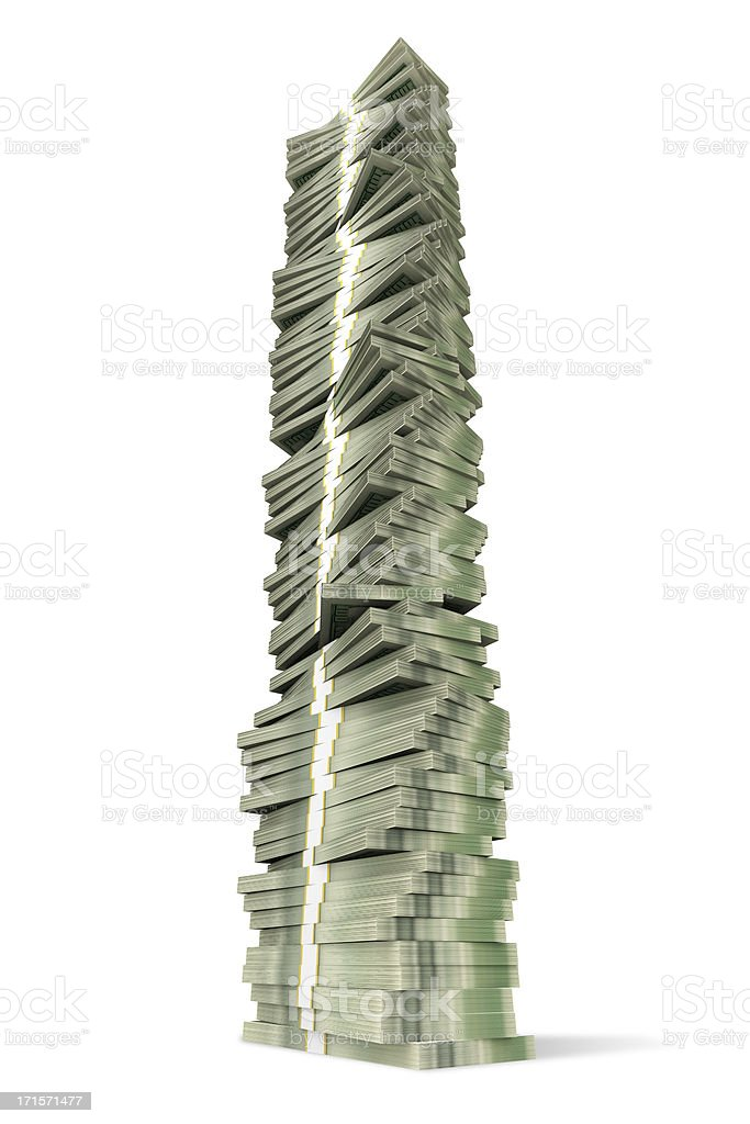 Tower of Money royalty-free stock photo