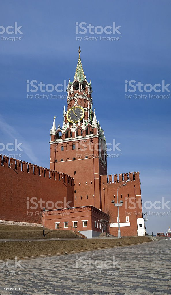 Tower of Moscow Kremlin royalty-free stock photo