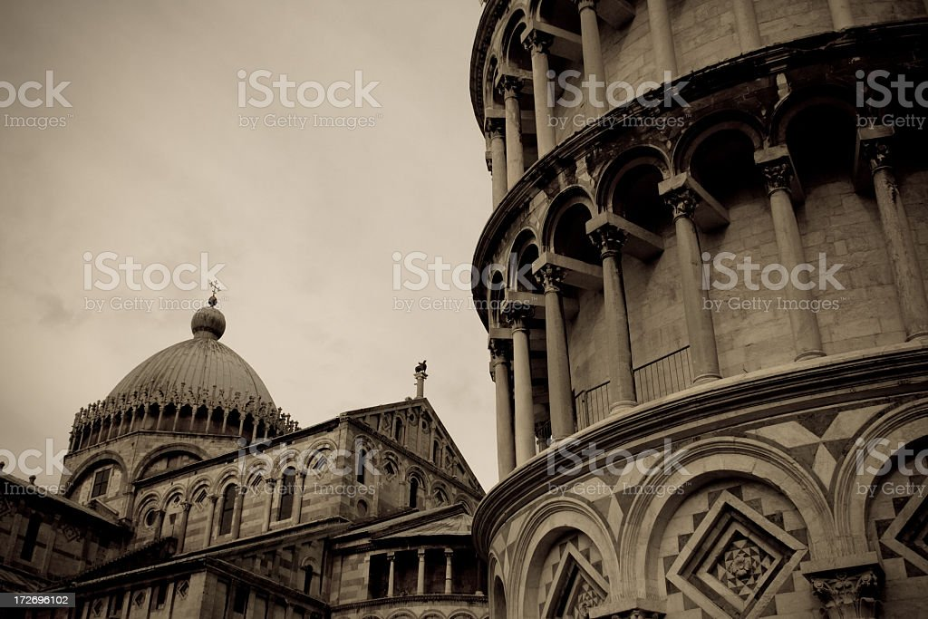Tower of Pisa And Duomo, Italy royalty-free stock photo