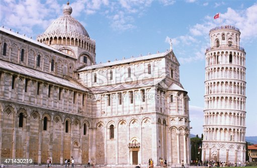 The famous Torre di Pisa (Leaning Tower), the