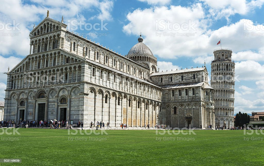 Tower of Pisa and the Cathedral stock photo