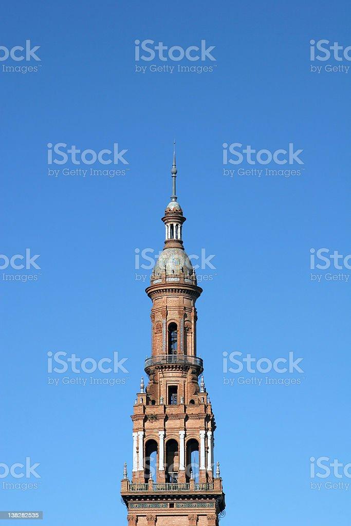 Tower of Plaza Espana, Sevilla royalty-free stock photo