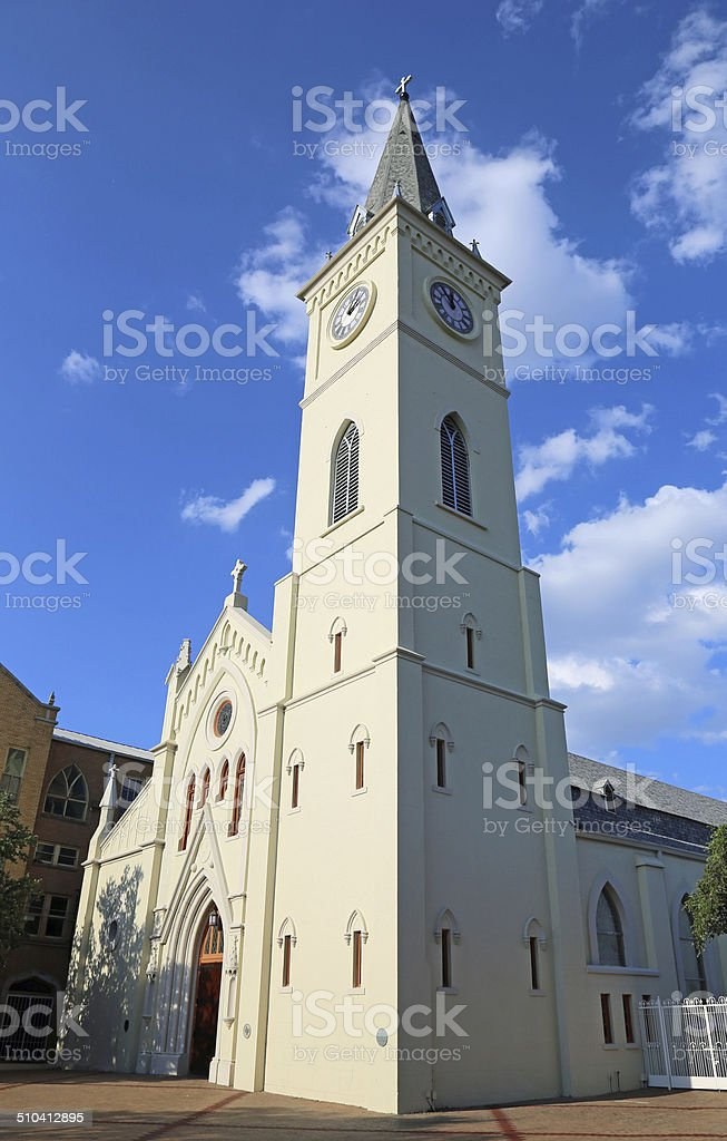 Tower of San Augustin de Laredo stock photo