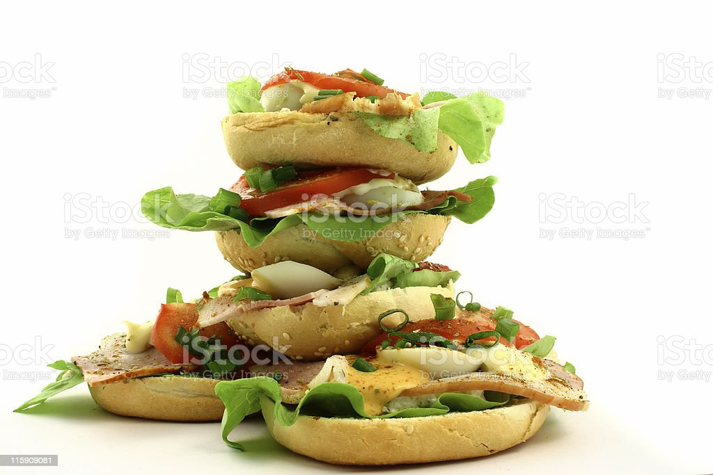 Tower of sandwiches royalty-free stock photo