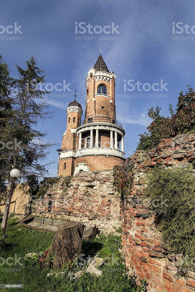 Tower of Sibinjanin Janko Gardos in Zemun, Belgrade, Serbia stock photo
