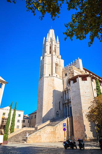 Tower of St. Felix church in Girona, Catalonia, Spain