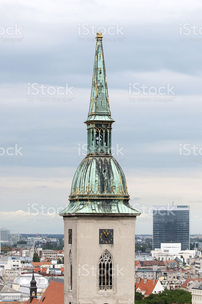 Tower of St. Martin's gothic cathedral royalty-free stock photo