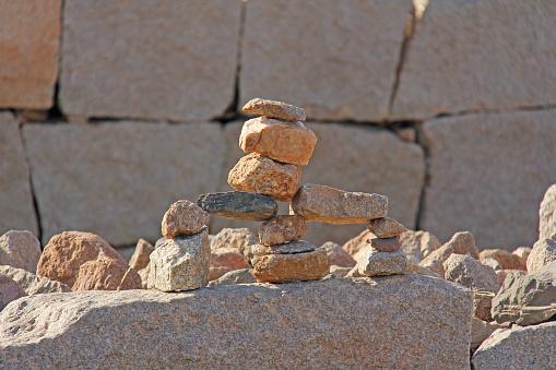 Toren Van Stenen In Hampi Karnataka India Stockfoto en meer beelden van Balans