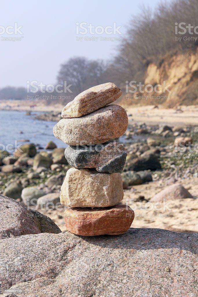 tower of stones stock photo