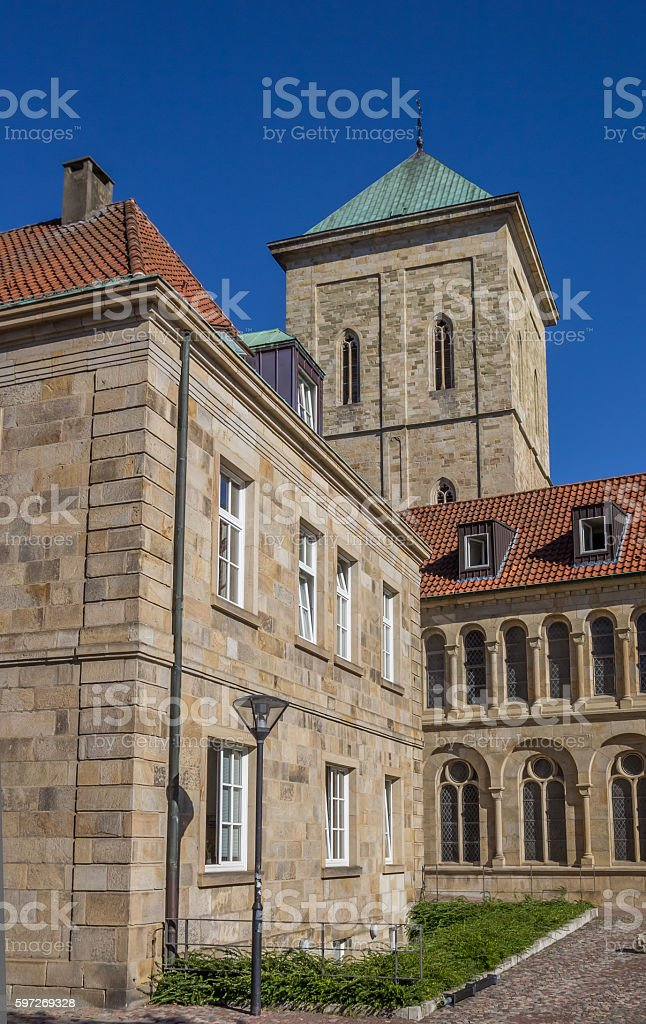 Tower of the dom church in Osnabruck royalty-free stock photo
