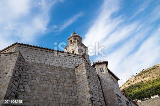 istock Tower of the Dominican Monastery in Dubrovnik, Croatia 1074108246