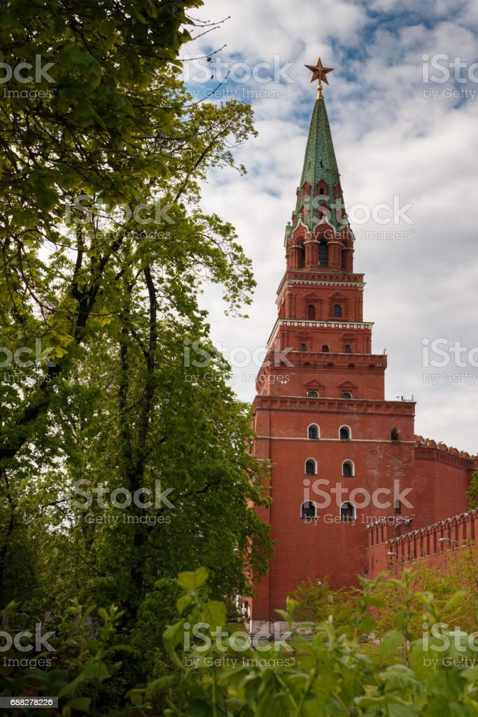 Tower of the Moscow Kremlin. stock photo