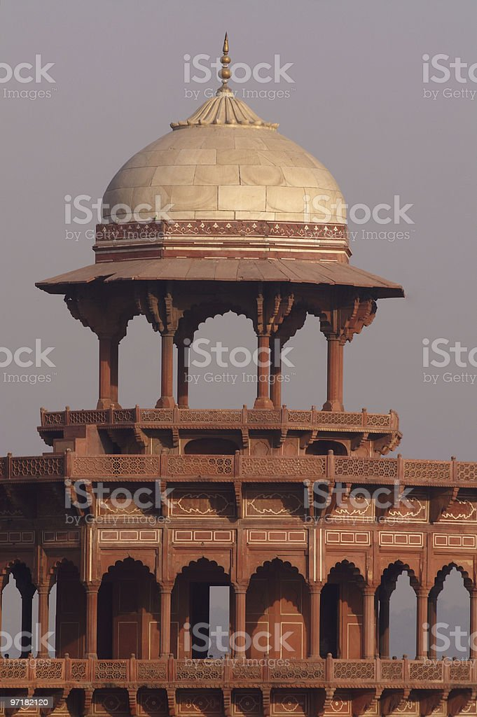 Tower of the mosque in Taj Mahal royalty-free stock photo