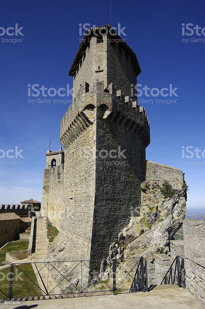 Tower of The Republic San Marino. royalty-free stock photo