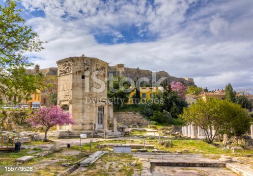 istock Tower of the Winds, Acropolis in background, Athens, Greece 155779526