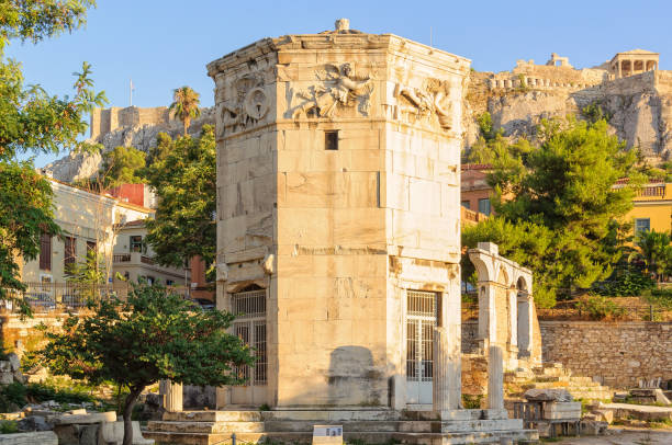 Tower of the Winds - Athens stock photo