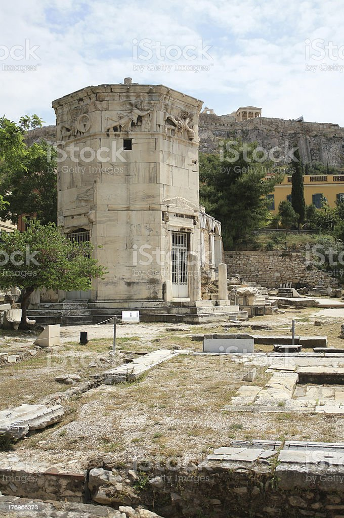 Tower of the Winds (Horologion) in Athens, Greece stock photo