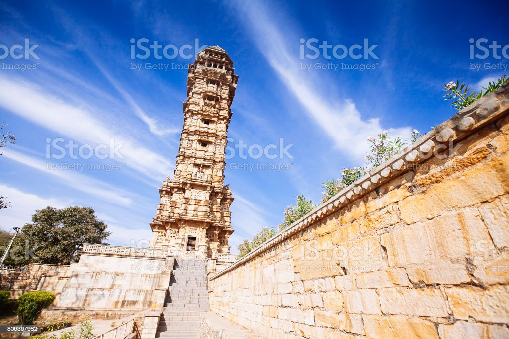 Turm des Sieges (Vijay Stambha) im Chittor Fort. Chittorgarh – Foto