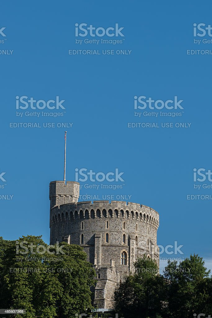 Tower of Windsor Castle stock photo