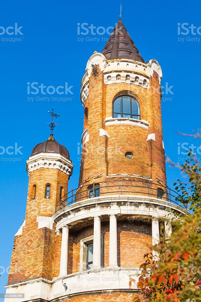 Tower on Gardos hill  in Zemun, Belgrade stock photo