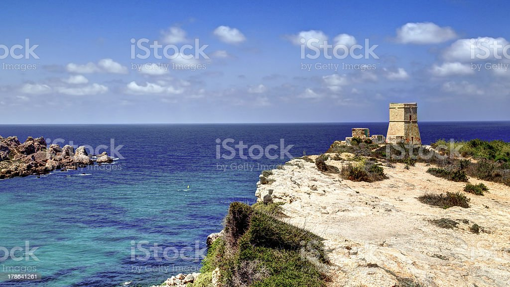 Tower on the cliff royalty-free stock photo