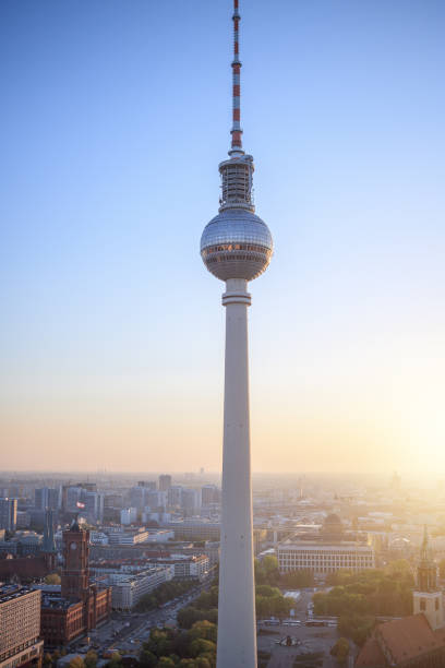 TV tower or Fersehturm in Berlin, Germany stock photo