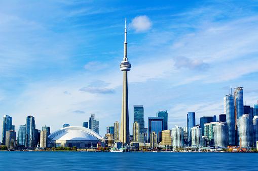 Toronto, Ontario, Canada, CN Tower Cityscape.