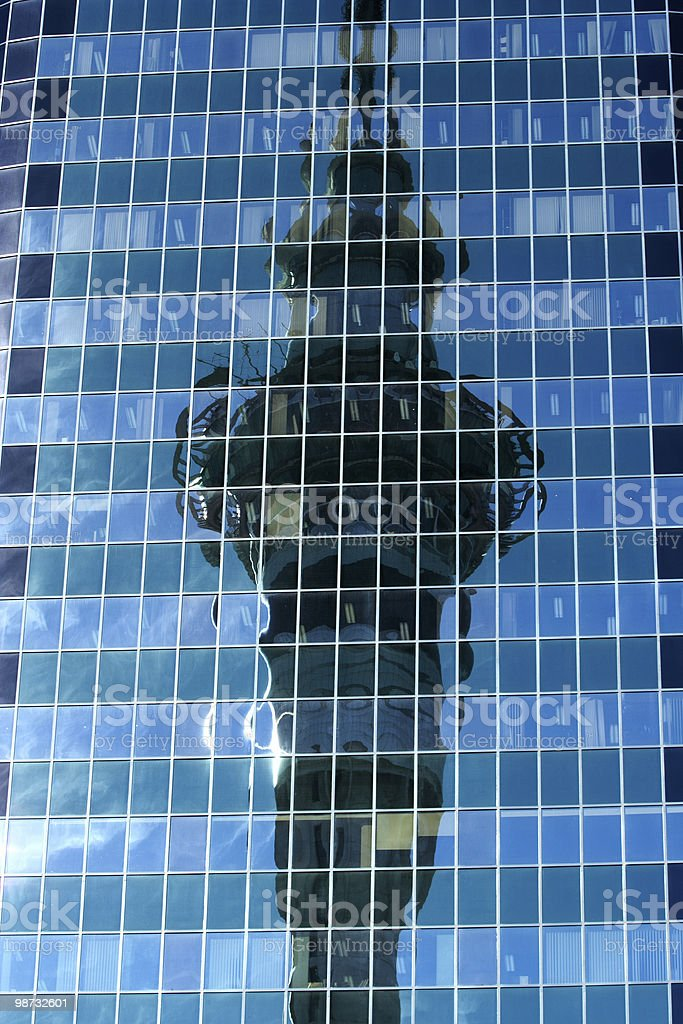 Tower Reflection royalty-free stock photo