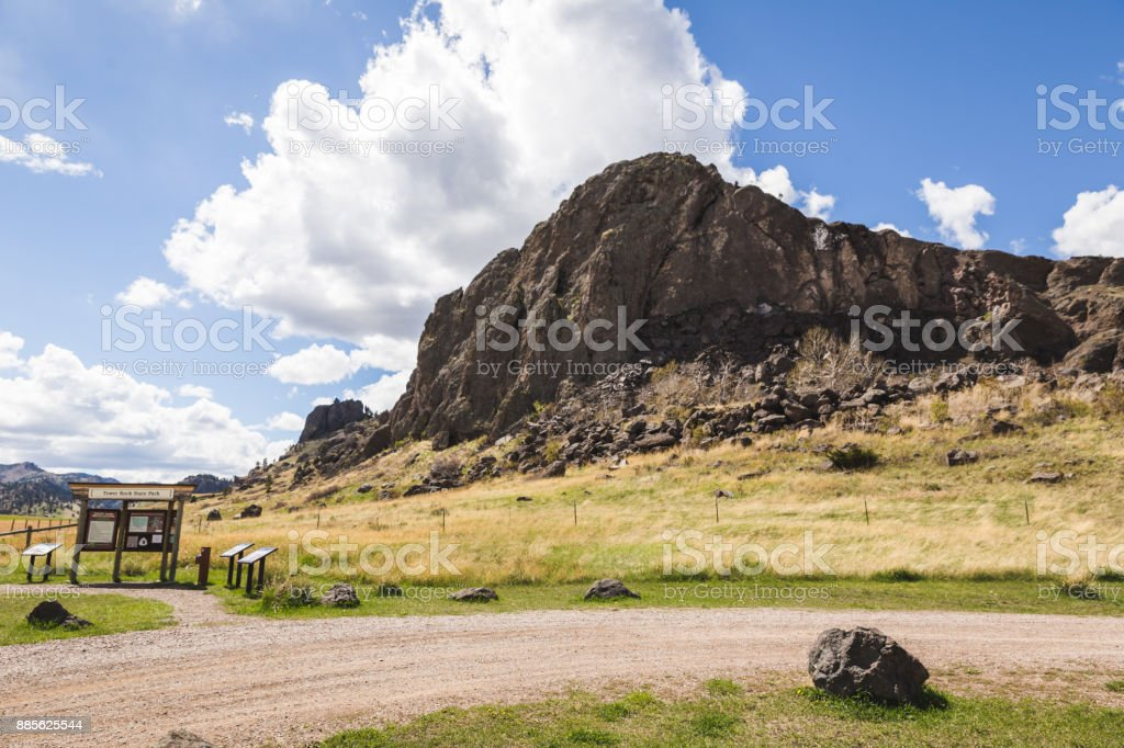 Tower Rock State Park in Montana stock photo