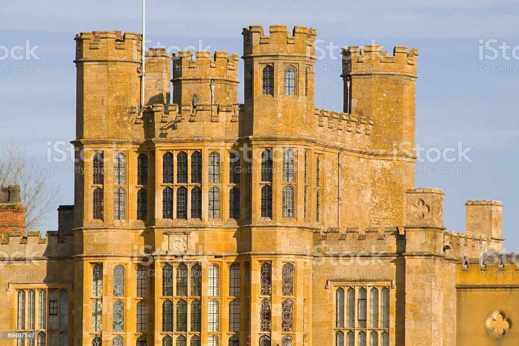 tower stately home royaltyfri bildbanksbilder