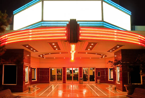 tower theater - entrance stock photos and pictures