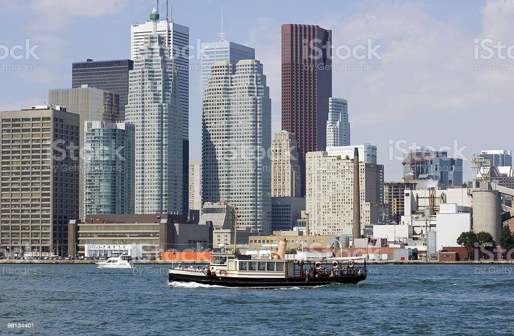 CN Tower. Toronto skyline from Ontario lake royalty-free stock photo