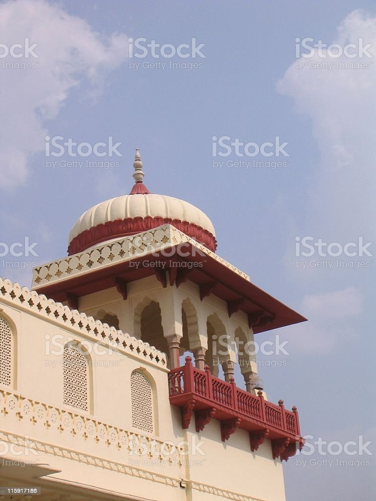 Tower with Dome in Jaipur, India royalty-free stock photo