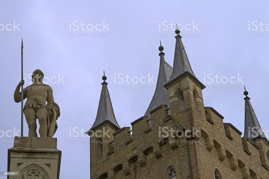 tower with knight royalty-free stock photo