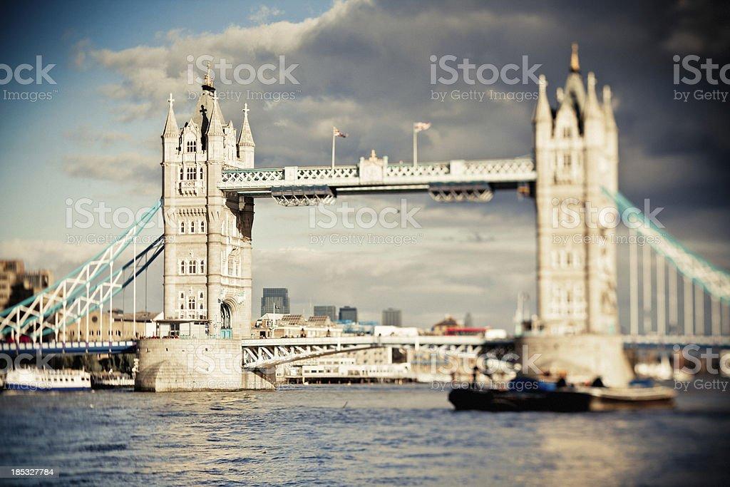 Towerbridge panorama with London skyline. stock photo