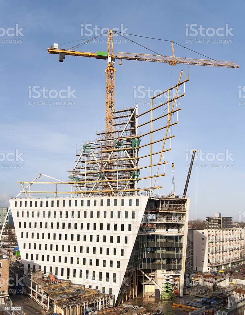 Tower-crane at a construction site royalty-free stock photo
