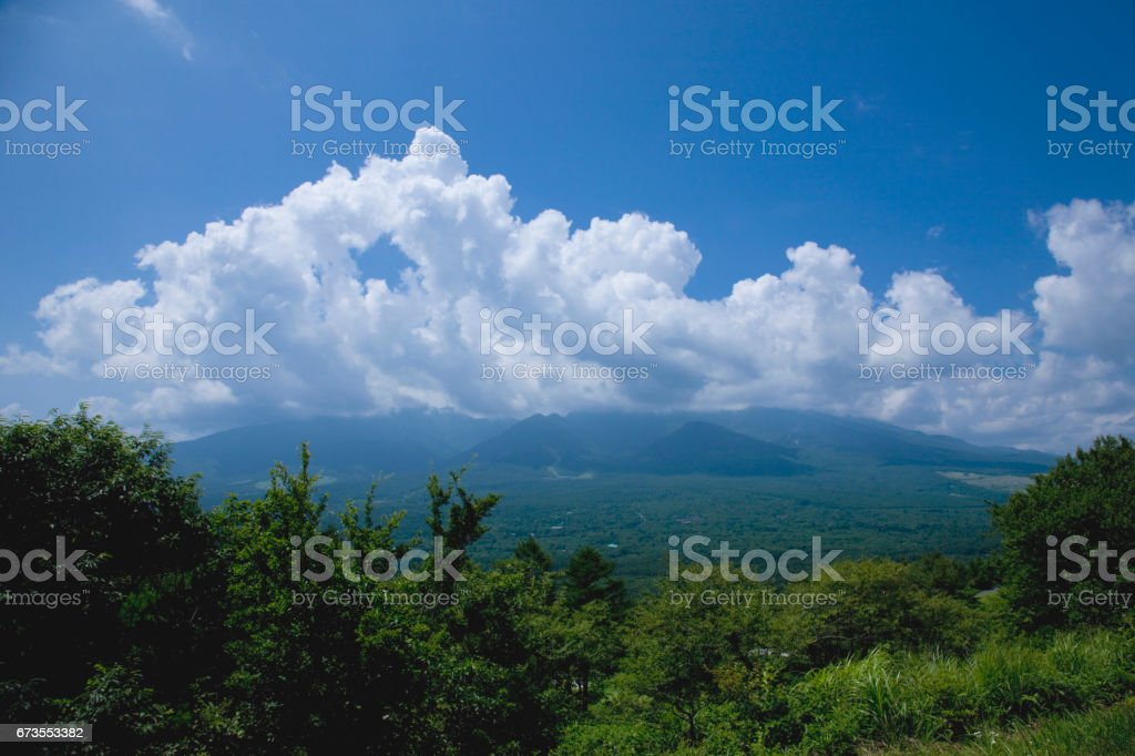 Towering cloud in summer royalty-free stock photo