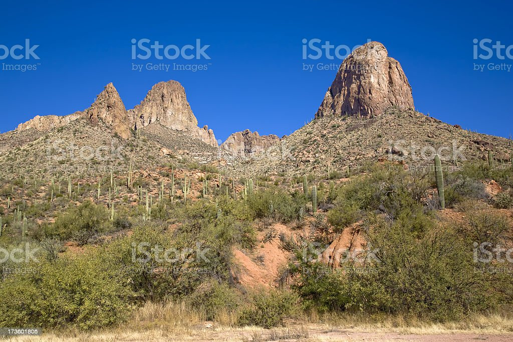Towering Desert Rock Formations royalty-free stock photo