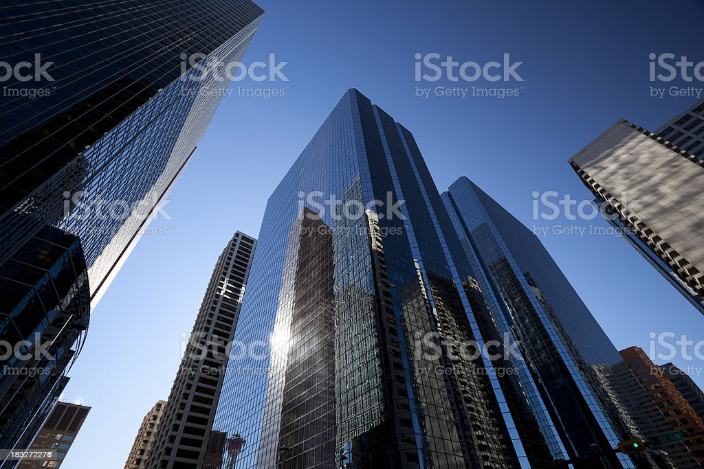 Towering Glass Skyscrapers royalty-free stock photo