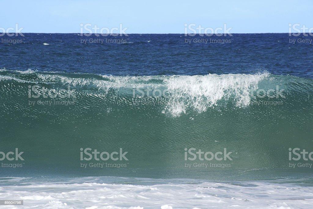 Towering sheet of seawater royalty-free stock photo