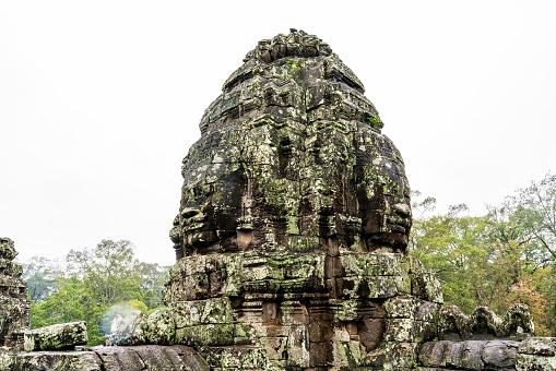 Towers and Faces at Bayon temple in Angkor Wat