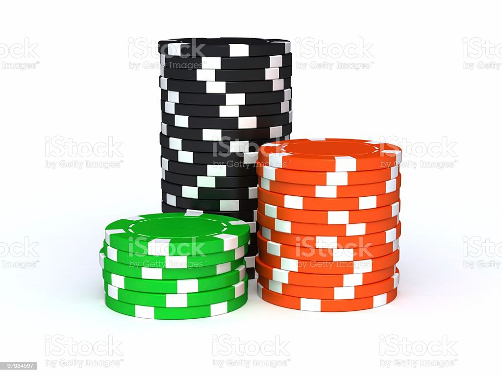 3D towers from chips royalty-free stock photo