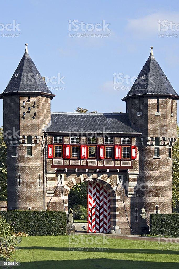 Towers von kasteel'De Haar'in den Niederlanden Lizenzfreies stock-foto