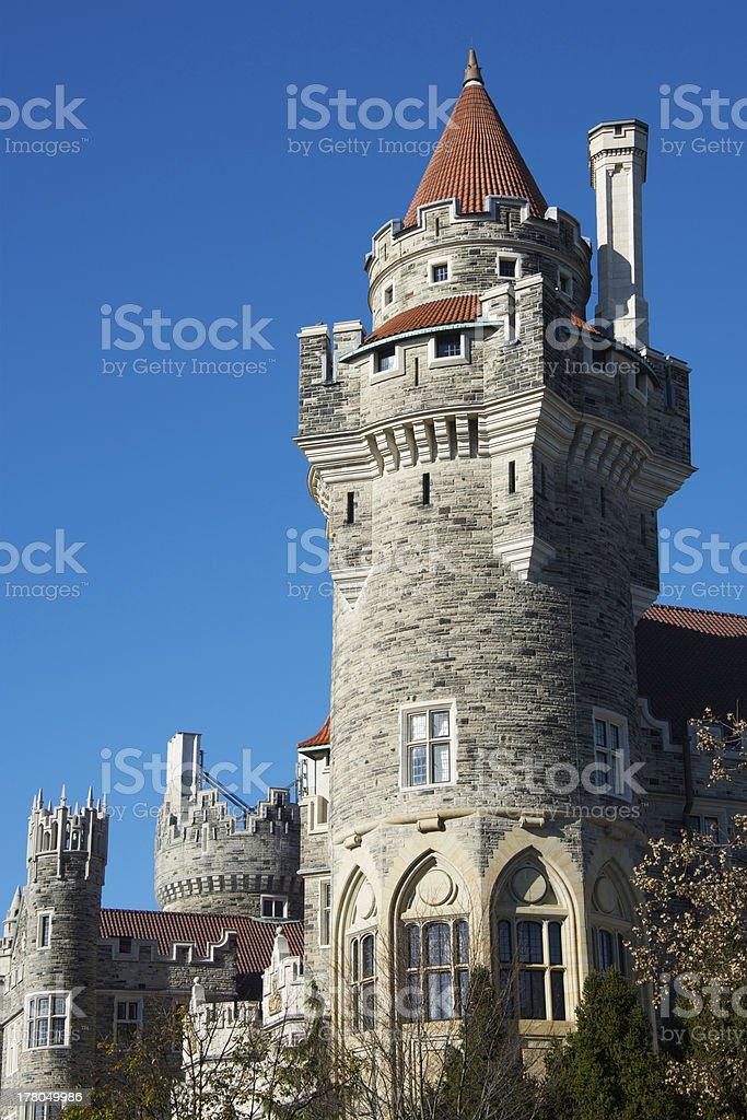 Towers of Casa Loma in Toronto, Canada stock photo